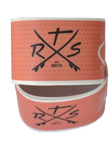 Rail saver tape rood/transparant